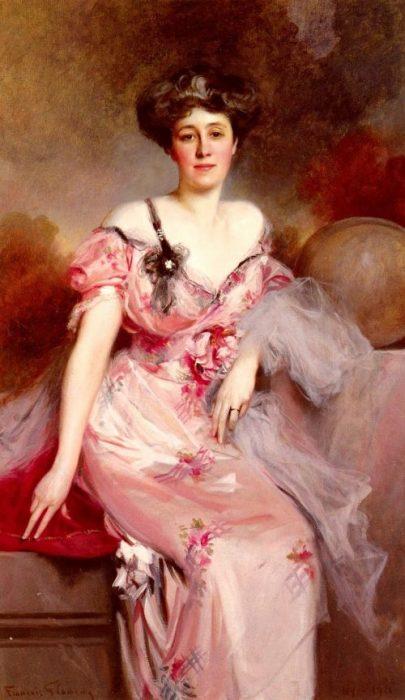 Портрет мадам Д. Автор: Francois Flameng.