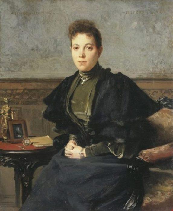 Портрет Веры Андреевны Харитоненко. Автор: Francois Flameng.