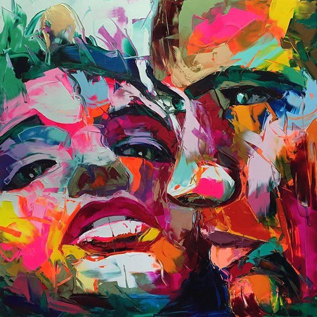 Эмоциональные портреты. Автор картин: Франсуаза Нилли (Francoise Nielly).