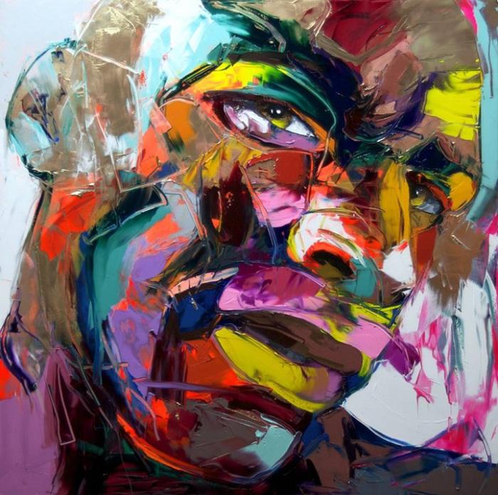 Великолепные портреты. Автор картин: Франсуаза Нилли (Francoise Nielly).