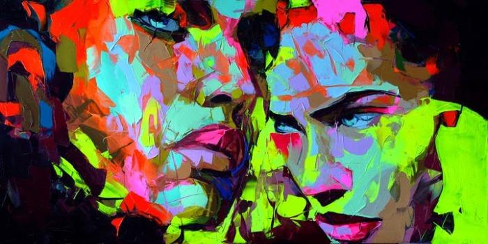 Экспрессивные «ломанные» портреты мастихином, написанные по фотографиям