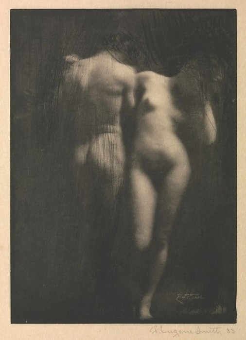 Адам и Ева, 1898 год. Автор: Frank Eugene.