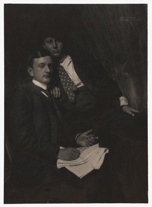 Портрет двух молодых людей, 1905 год. Автор: Frank Eugene.