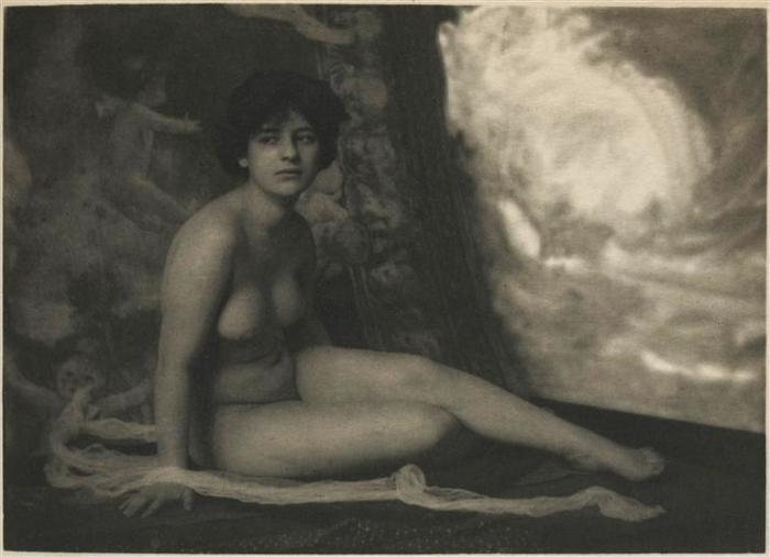 Студия: обнажённая натура, 1910 год. Автор: Frank Eugene.