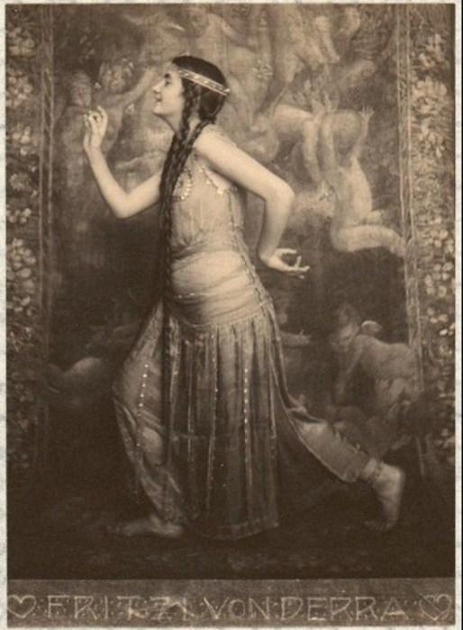 Восточная тановщица, 1900 год. Автор: Frank Eugene.