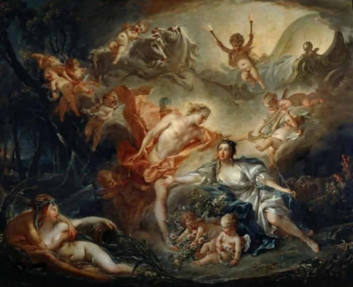 Аполлон и пастушка из Иссы. Автор: Francois Boucher.