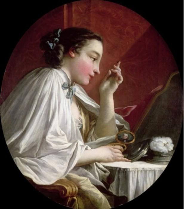 Женщина за туалетом. Автор: Francois Boucher.