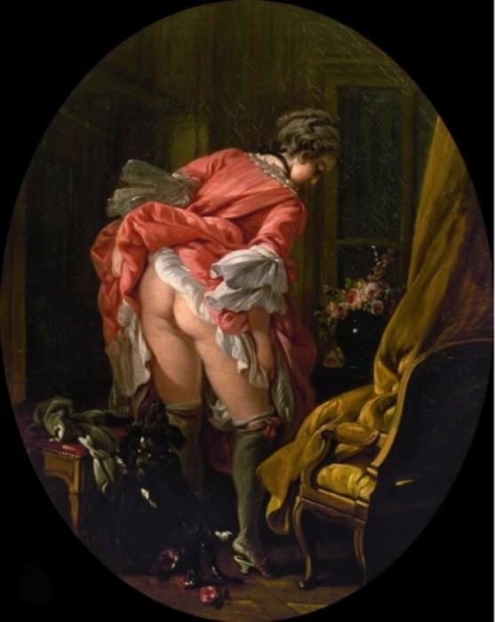 Задранная юбка. Автор: Francois Boucher.