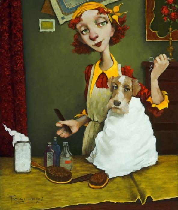 Собачий парикмахер. Автор: Fred Calleri.