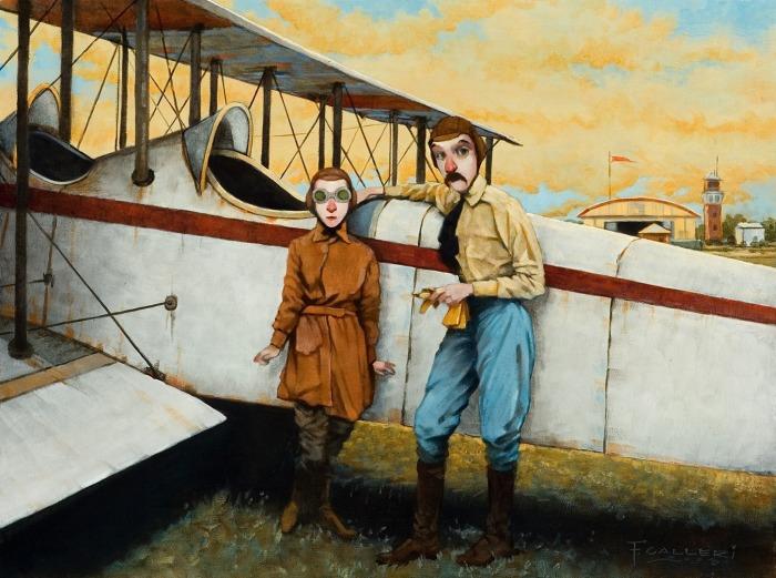 Жена лётчика. Автор: Fred Calleri.