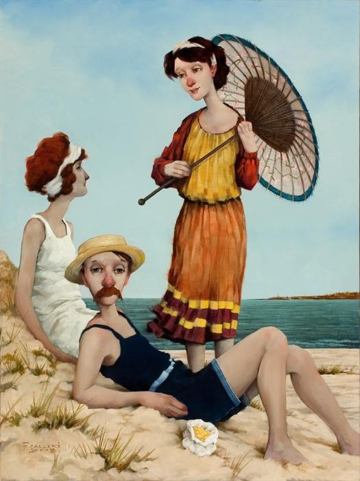 На пляже. Автор: Fred Calleri.
