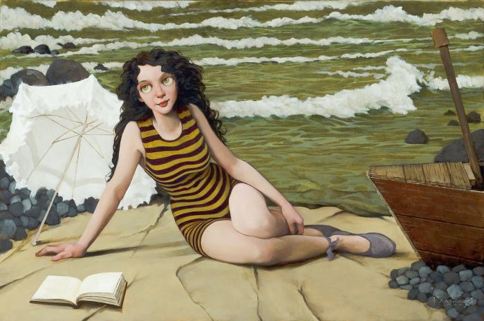 На берегу моря. Автор: Fred Calleri.