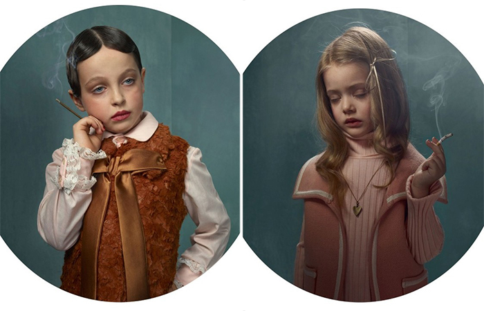 Курящие детки. Автор: Frieke Janssens.