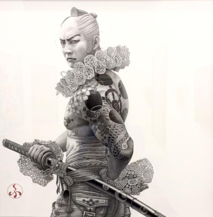 Самурай с мечом. Автор: Futaro Mitsuki.