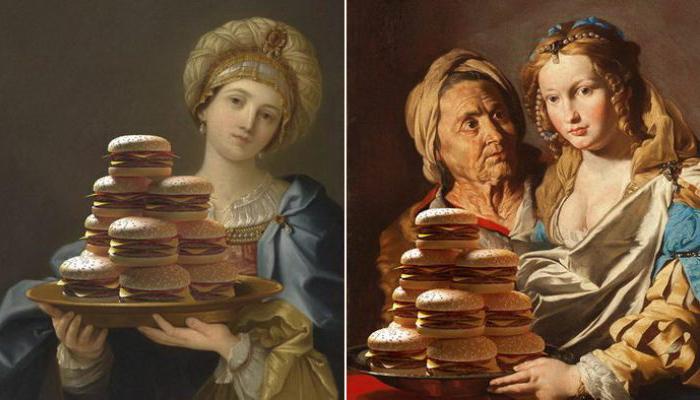 Фаст-фуд на картинах эпохи Возрождения. Автор: Gabriel Nardelli Araujo.