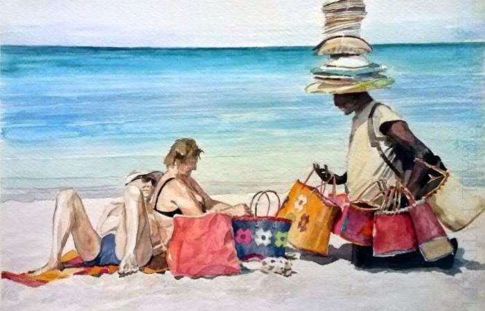 На пляже. Автор: Gael Patin.