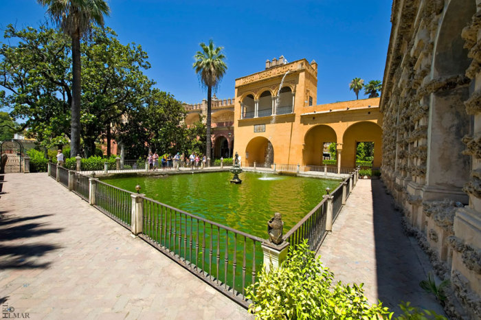 Королевский дворец Дорна: сады Севильского Альксара, город Севилья, Андалусия, Испания. Автор фото: Ильмар Хейн.