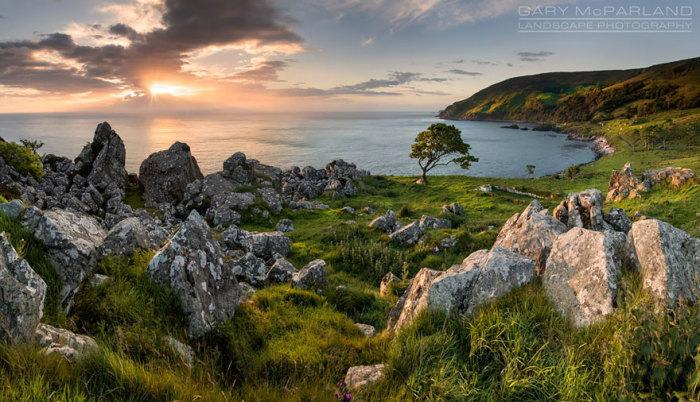 Железный остров: залив Мурлоу, Северная Ирландия. Автор фото: Гэри МакПарлэнд.