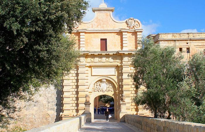 Ворота Королевской Гавани: Мдина, Мальта. Автор фото: Джон Хэслэм.