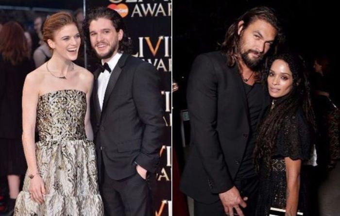 Актёры сериала «Игра престолов» со своими вторыми половинками в реальной жизни.