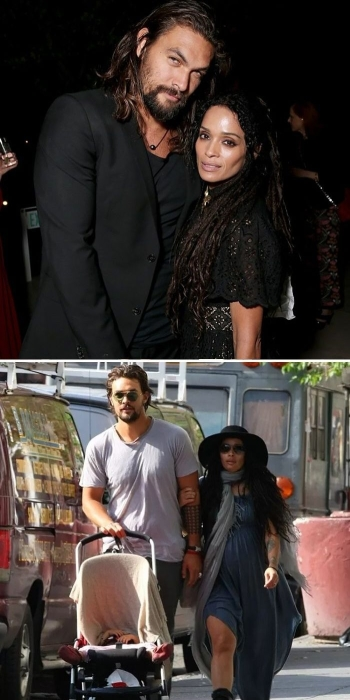 Джейсон Момоа (Кхал Дрого) и Лиза Боне.