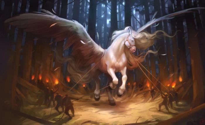 Крылатый конь. Автор: Александра Хитрова.