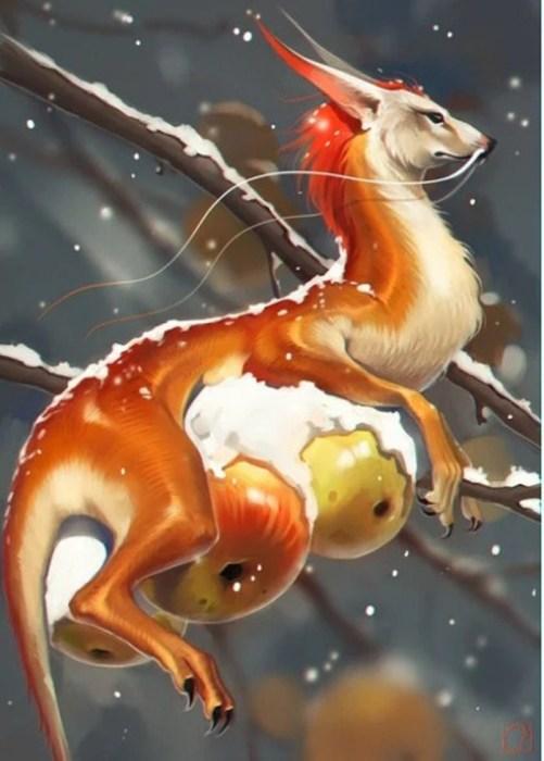Зимние яблоки. Автор: Александра Хитрова.