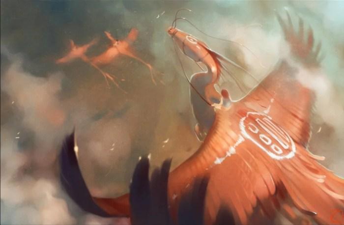 Драконы в небе. Автор: Александра Хитрова.