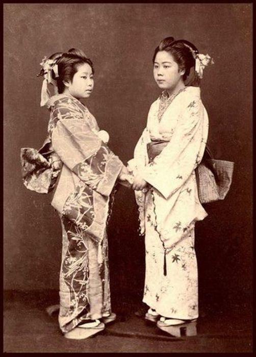 Гейши, Окинава, 1870 год.