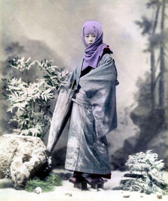 Гейша зимой, 1890 год.