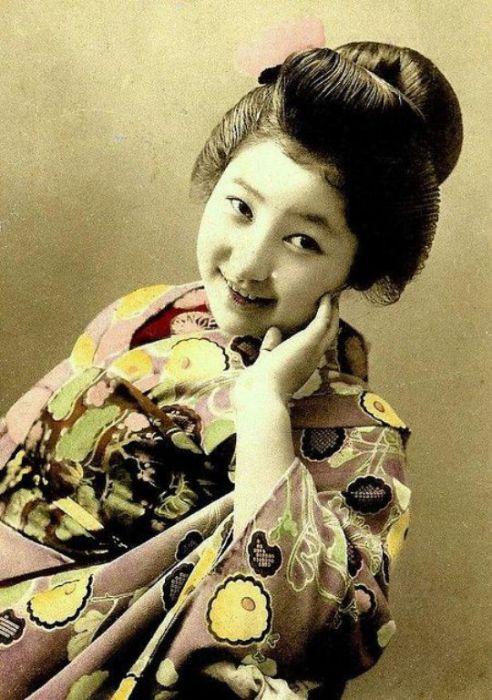 Портрет гейши, 1905-10 годы.