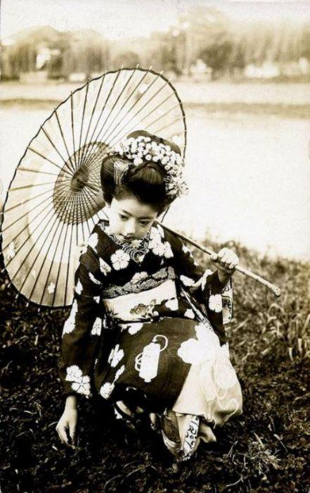 Юная майко, 1920 год.