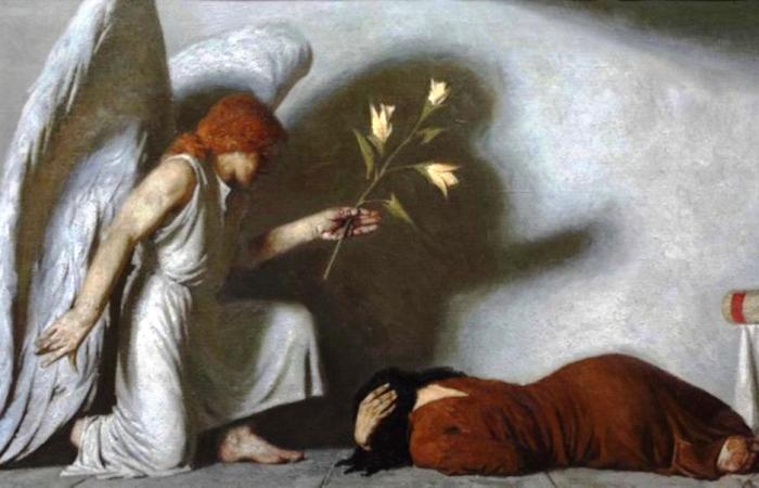 Благовещение, 1987 год. Автор: Гелий Коржев.