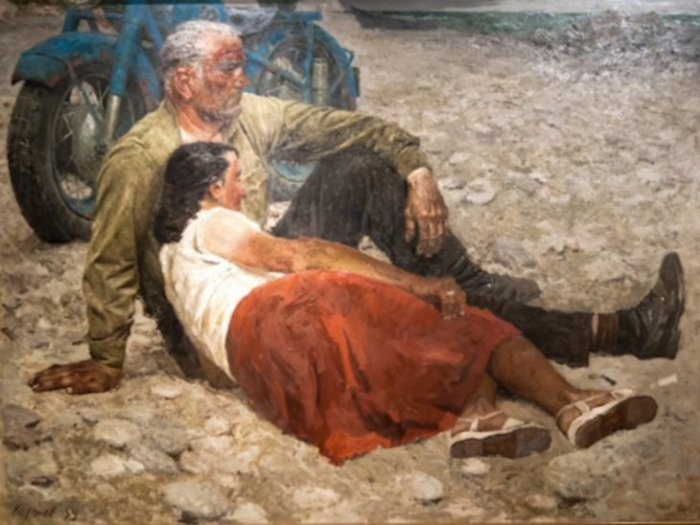 Влюблённые, 1959 год. Автор: Гелий Коржев.
