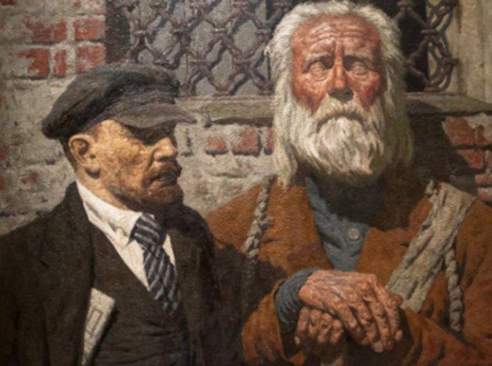 Беседа, 1989 год. Автор: Гелий Коржев.