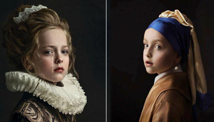 Невероятные фотопортреты в стиле старинных мастеров. Автор: Gemmy Woud-Binnendijk.