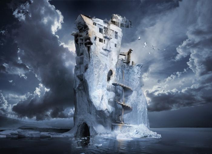 Ледниковый период: причудливые айсберги. Работы художника нео-сюрреалиста Джоржа Грие (Georg Grie).
