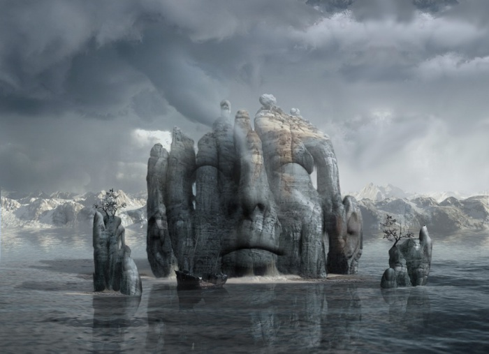 Слияние или медитация. Работы художника нео-сюрреалиста Джоржа Грие (Georg Grie).