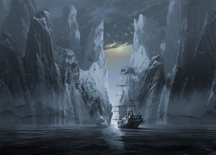Серия корабль-призрак: пропавшая экспедиция. Работы художника нео-сюрреалиста Джоржа Грие (Georg Grie).