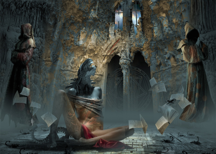 Экзорцизм. Работы художника нео-сюрреалиста Джоржа Грие (Georg Grie).