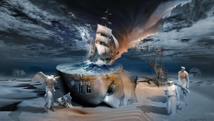Экзистенциальное пробуждение. Работы художника нео-сюрреалиста Джоржа Грие (Georg Grie).