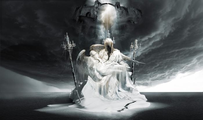 Падение Люцифера-Пьета: Боги и герои. Работы художника нео-сюрреалиста Джоржа Грие (Georg Grie).