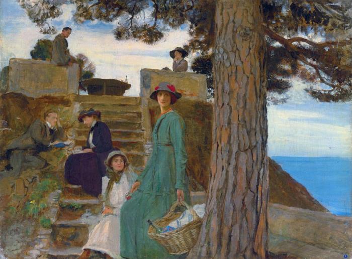 Пикник в Портофино. Автор: George Spencer Watson.