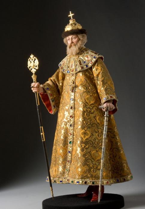 Михаил Фёдорович Романов (1596—1645 гг.) — первый русский царь из династии Романовых (правил с 24 марта 1613 года). Автор: George Stuart.