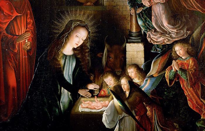 Рождение Христа. Автор: Gerard David.