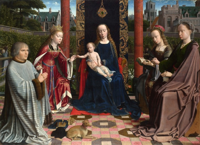 Мадонна с Младенцем, Святыми и донатором. Автор: Gerard David.