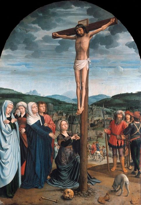 Христос на кресте. Автор: Gerard David.