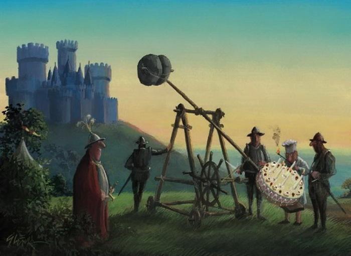 Средневековый привет. Автор: Gerhard Gluck.