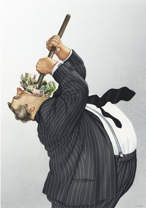 Жажда денег и власти. Автор: Gerhard Haderer.