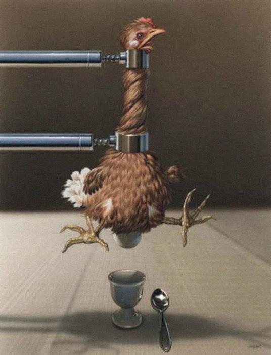 Завтрак. Автор: Gerhard Haderer.